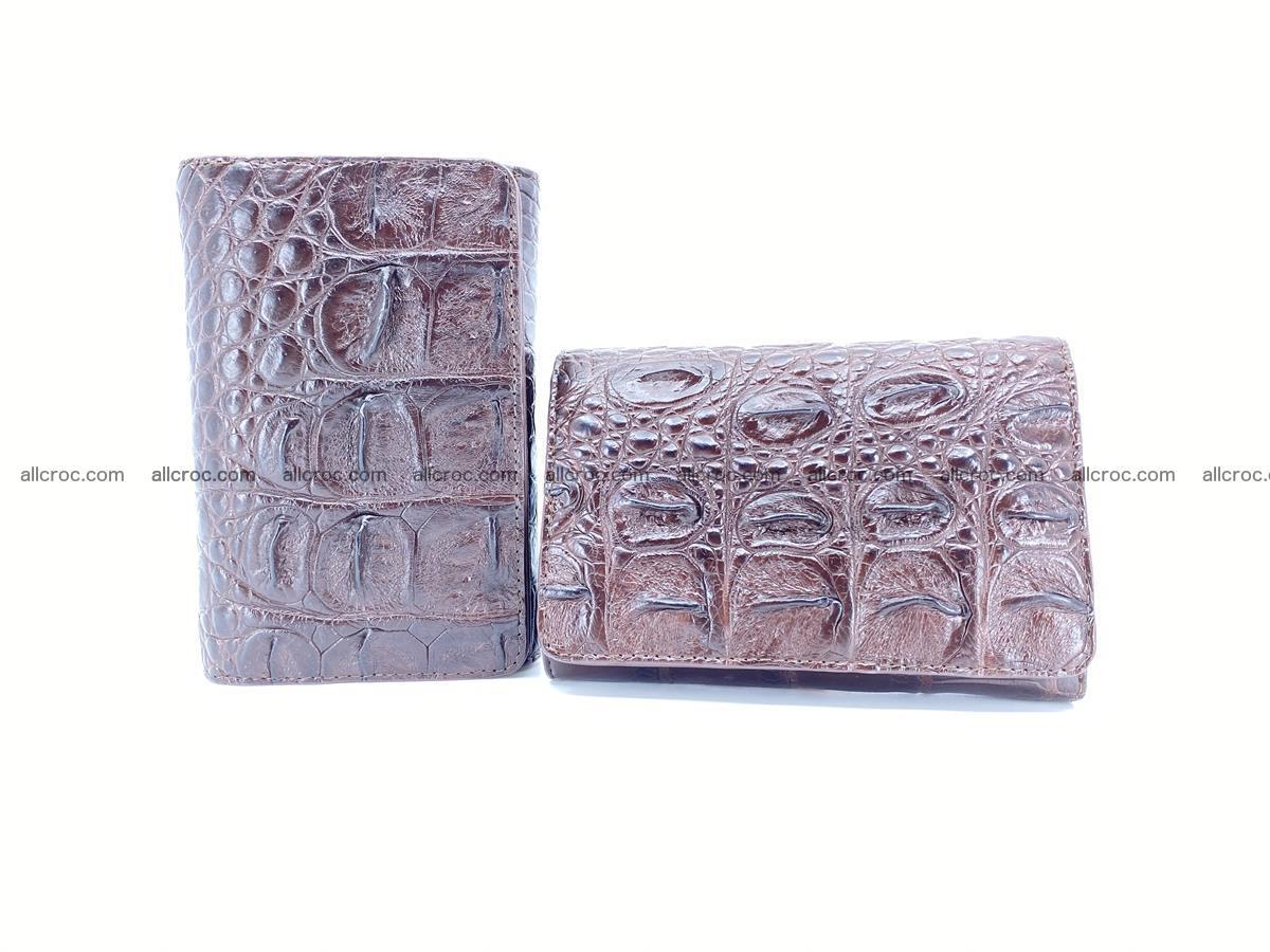 Siamese crocodile skin wallet for women, trifold medium size 433 Foto 13
