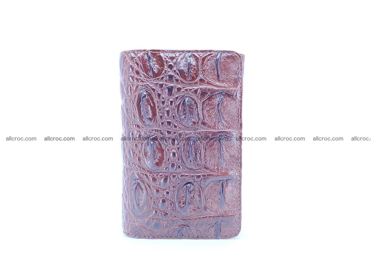 Siamese crocodile skin wallet for women, trifold medium size 433 Foto 2