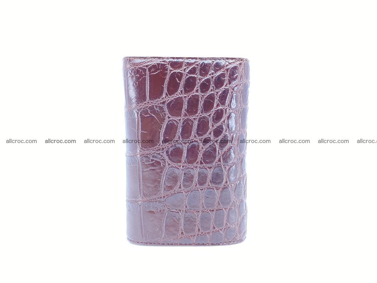 Siamese crocodile skin wallet for women, trifold medium size 433 Foto 3