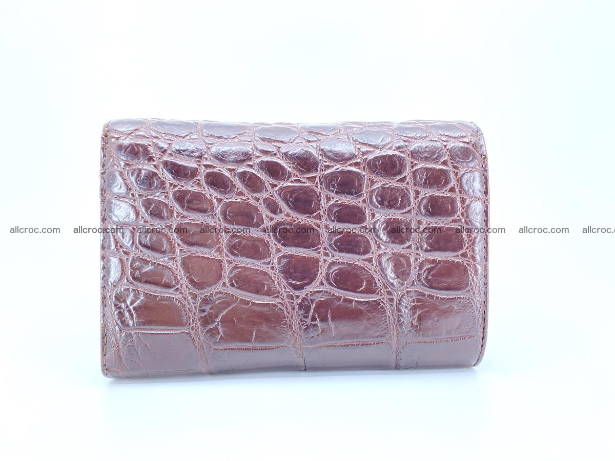 Siamese crocodile skin wallet for women, trifold medium size 433 Foto 1