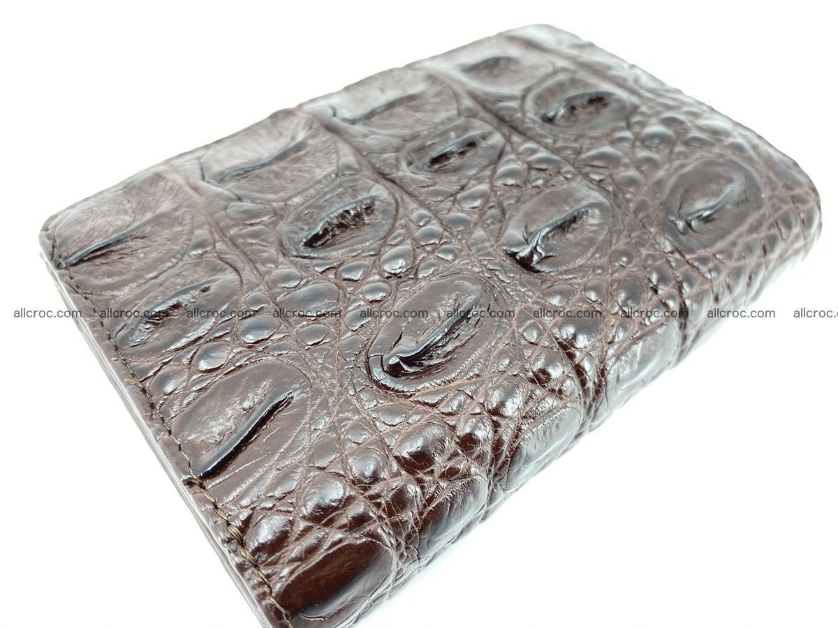 Siamese crocodile skin wallet for women, trifold medium size 433 Foto 5