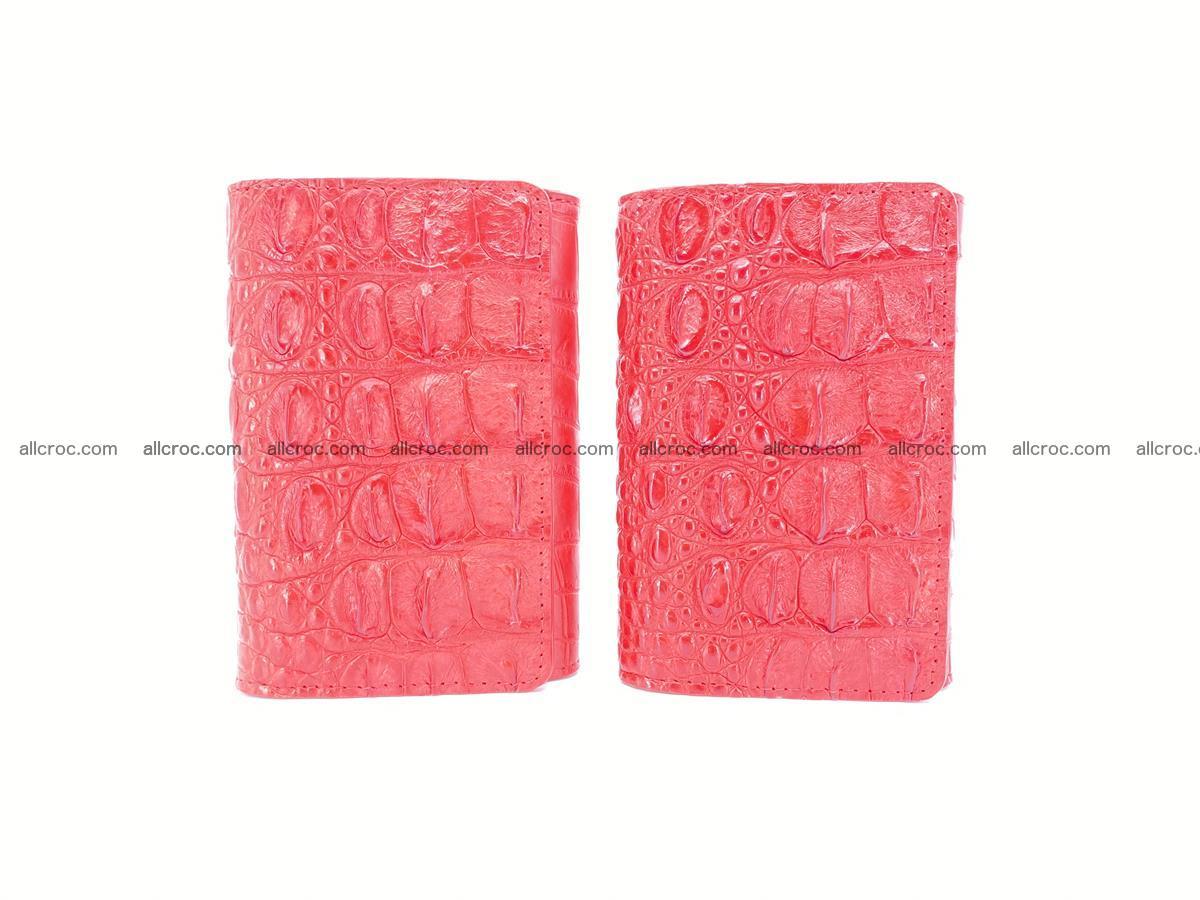 Siamese crocodile skin wallet for women, trifold medium size 435 Foto 11