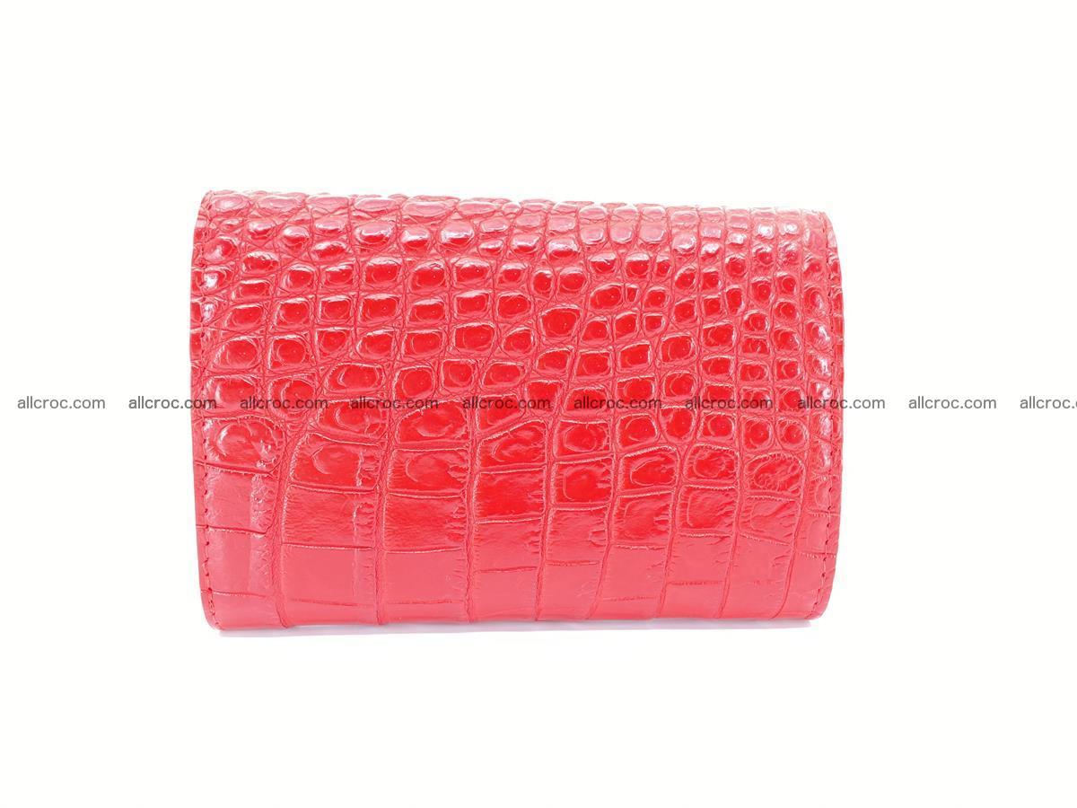 Siamese crocodile skin wallet for women, trifold medium size 435 Foto 1