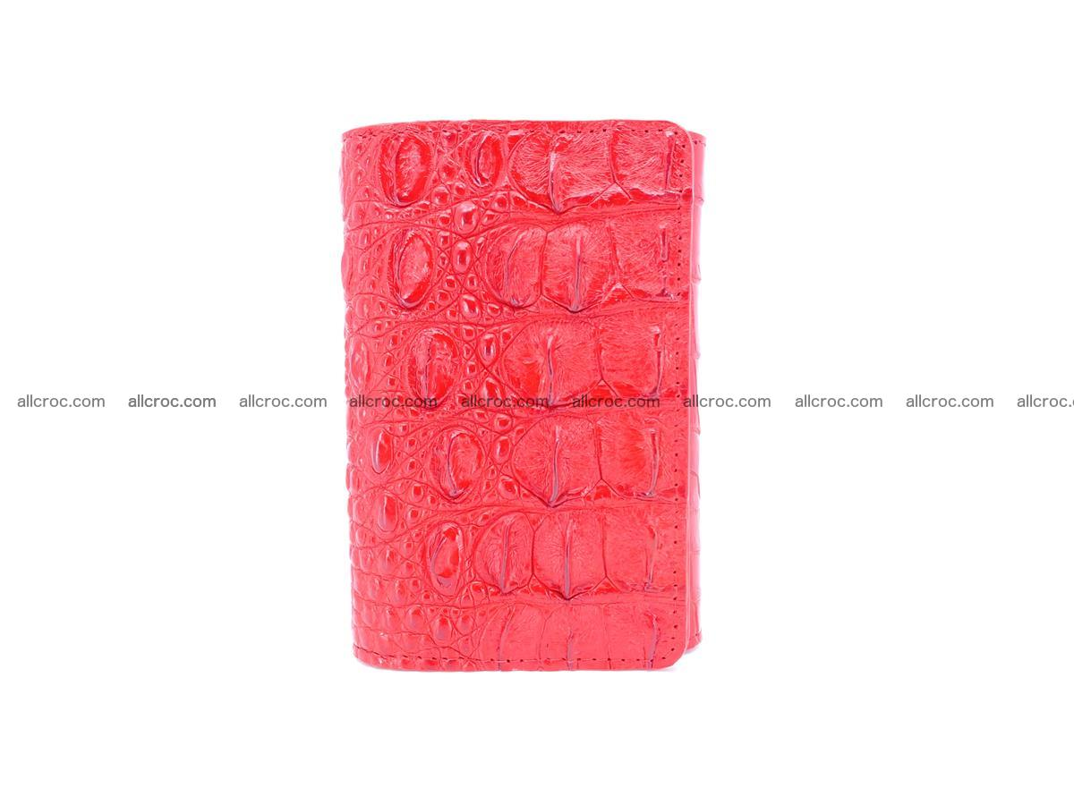 Siamese crocodile skin wallet for women, trifold medium size 435 Foto 2