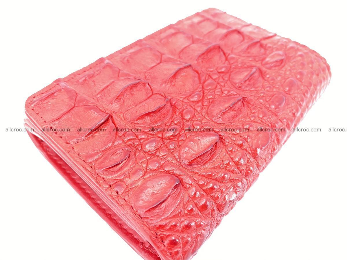 Siamese crocodile skin wallet for women, trifold medium size 435 Foto 5