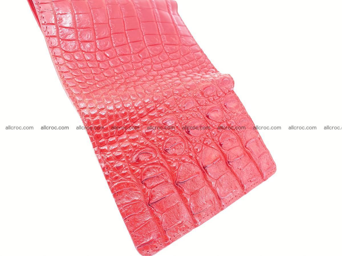 Siamese crocodile skin wallet for women, trifold medium size 435 Foto 10