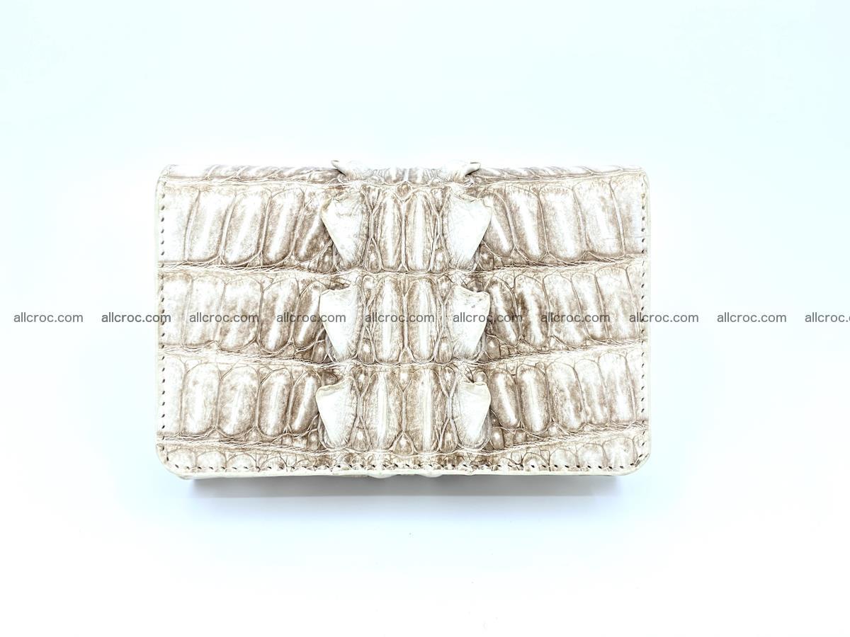 Siamese crocodile skin wallet for women trifold medium size 449 Foto 0