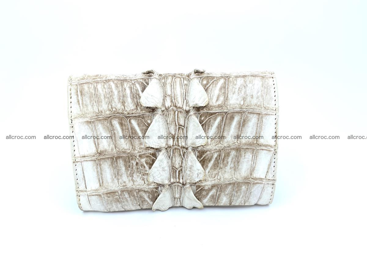Siamese crocodile skin wallet for women trifold medium size 449 Foto 1