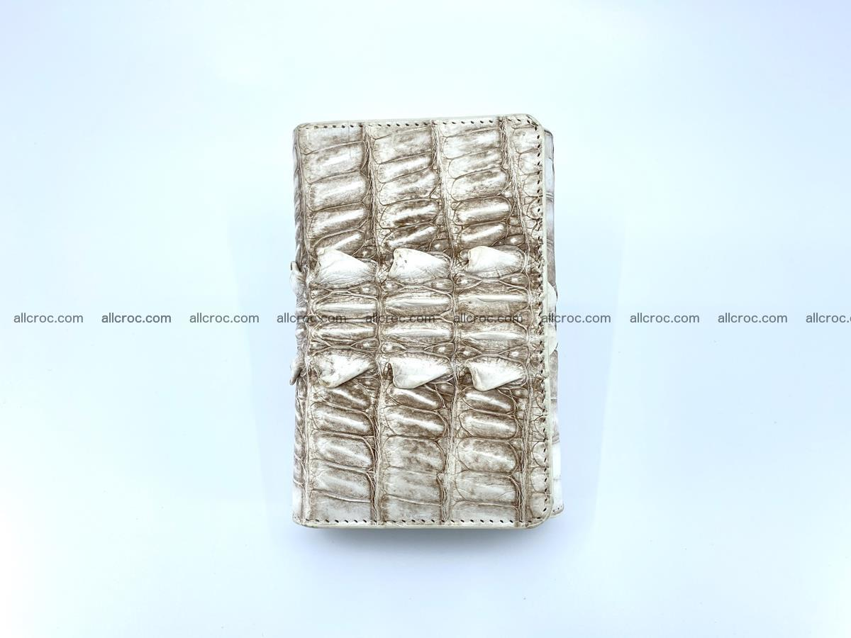 Siamese crocodile skin wallet for women trifold medium size 449 Foto 4
