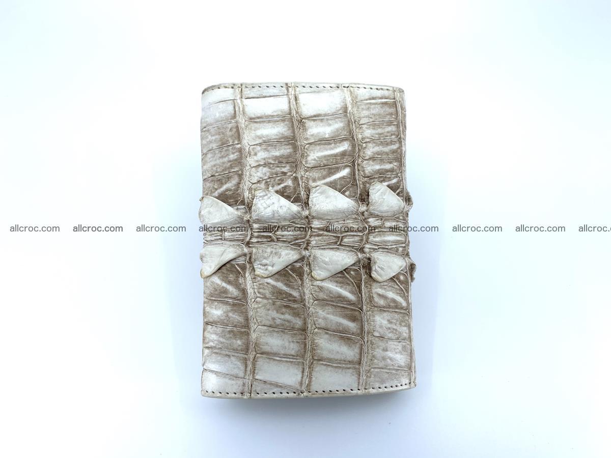 Siamese crocodile skin wallet for women trifold medium size 449 Foto 5