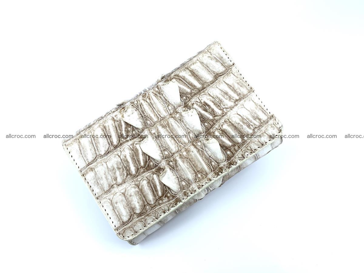 Siamese crocodile skin wallet for women trifold medium size 449 Foto 2