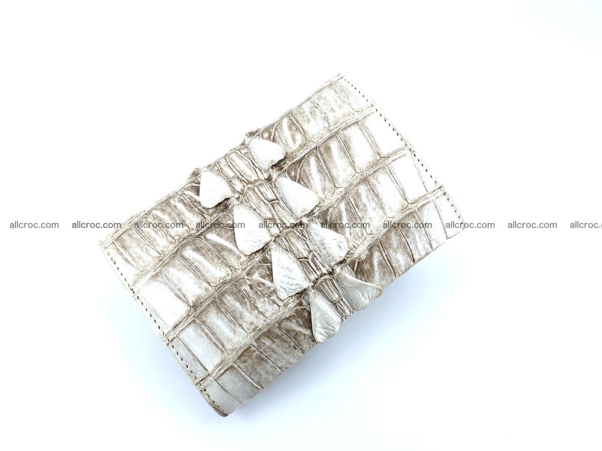 Siamese crocodile skin wallet for women trifold medium size 449 Foto 3