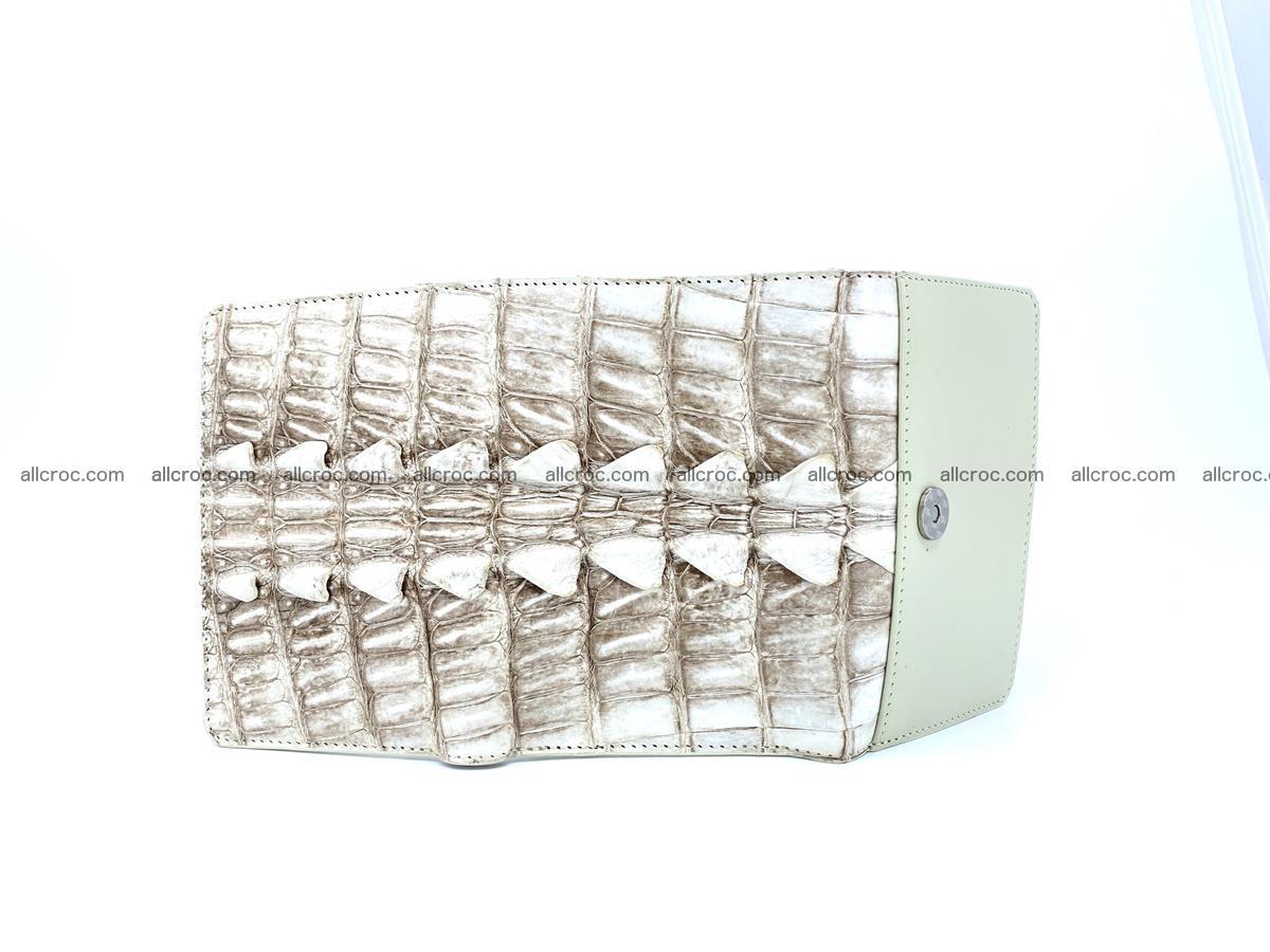 Siamese crocodile skin wallet for women trifold medium size 449 Foto 6