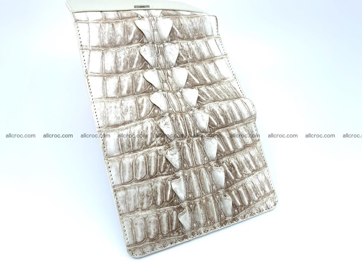 Siamese crocodile skin wallet for women trifold medium size 449 Foto 7