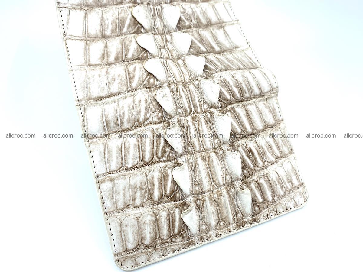 Siamese crocodile skin wallet for women trifold medium size 449 Foto 8