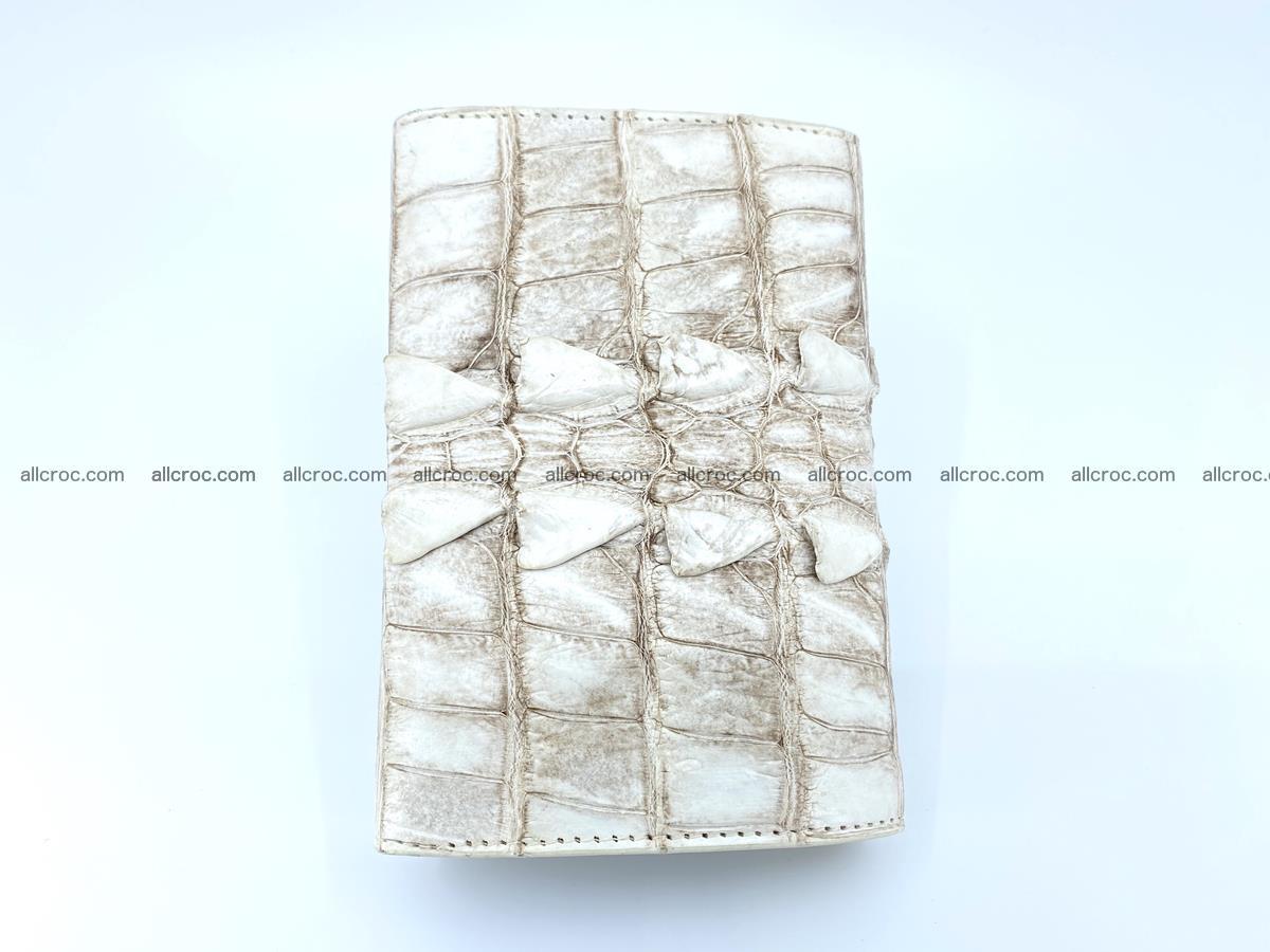 Siamese crocodile skin wallet for women 448 Foto 4