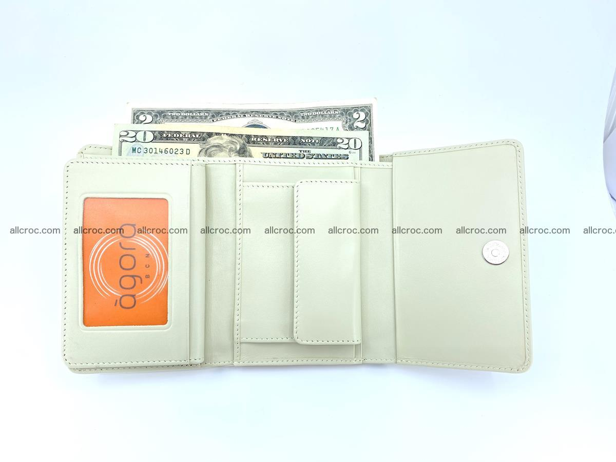 Siamese crocodile skin wallet for women 448 Foto 7