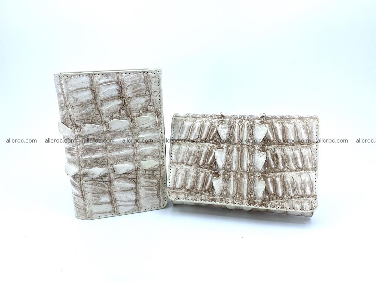 Siamese crocodile skin wallet for women 448 Foto 13