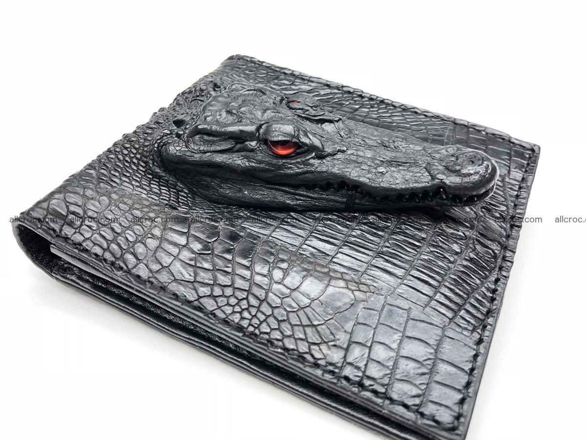 Siamese crocodile skin wallet with genuine crocodile head 508 Foto 0