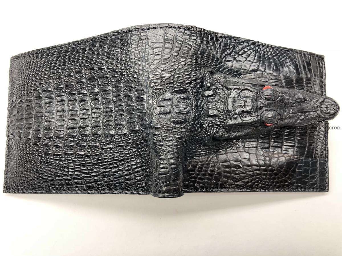 Siamese crocodile skin wallet with genuine crocodile head 508 Foto 4