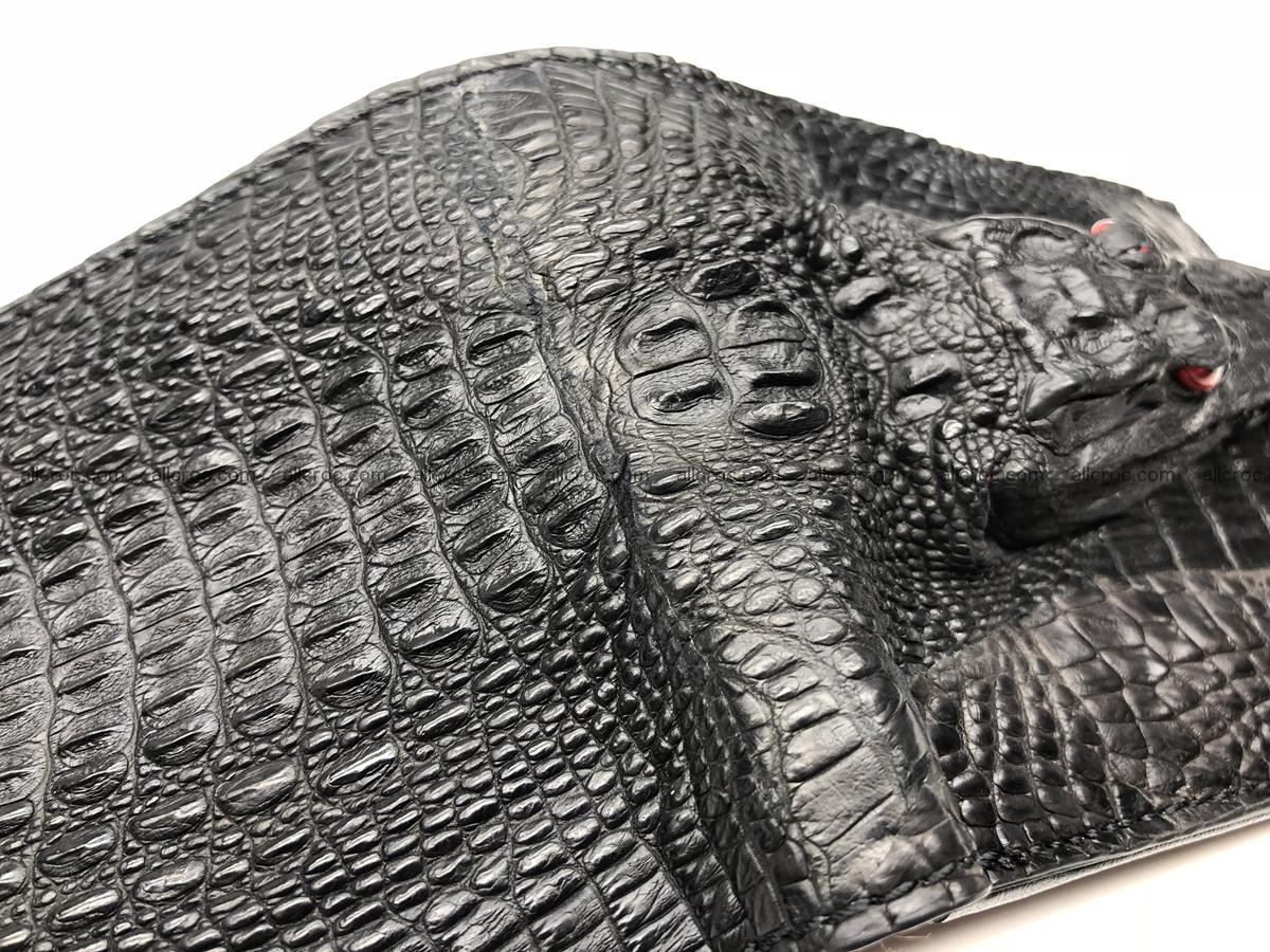 Siamese crocodile skin wallet with genuine crocodile head 508 Foto 5
