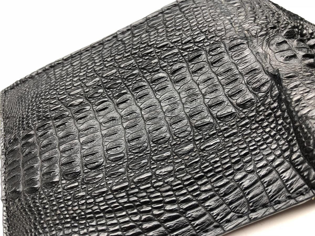Siamese crocodile skin wallet with genuine crocodile head 508 Foto 6