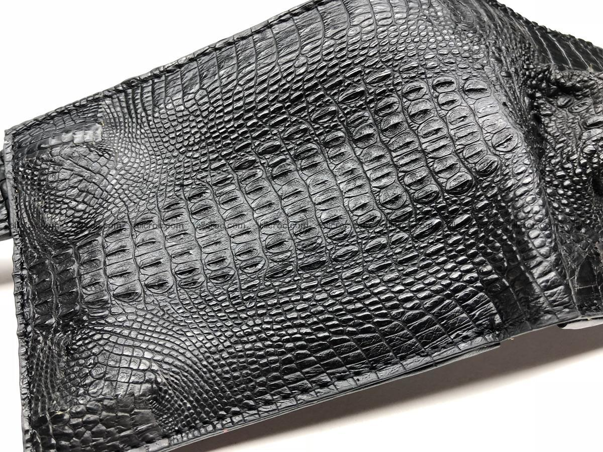 Siamese crocodile skin wallet with genuine crocodile head 509 Foto 5