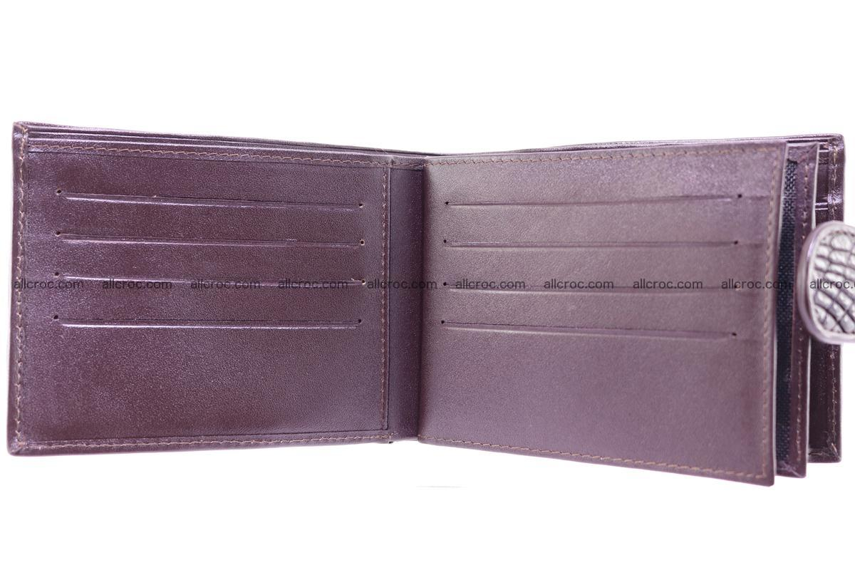 Siamese crocodile wallet with half belt and coins compartment 274 Foto 10