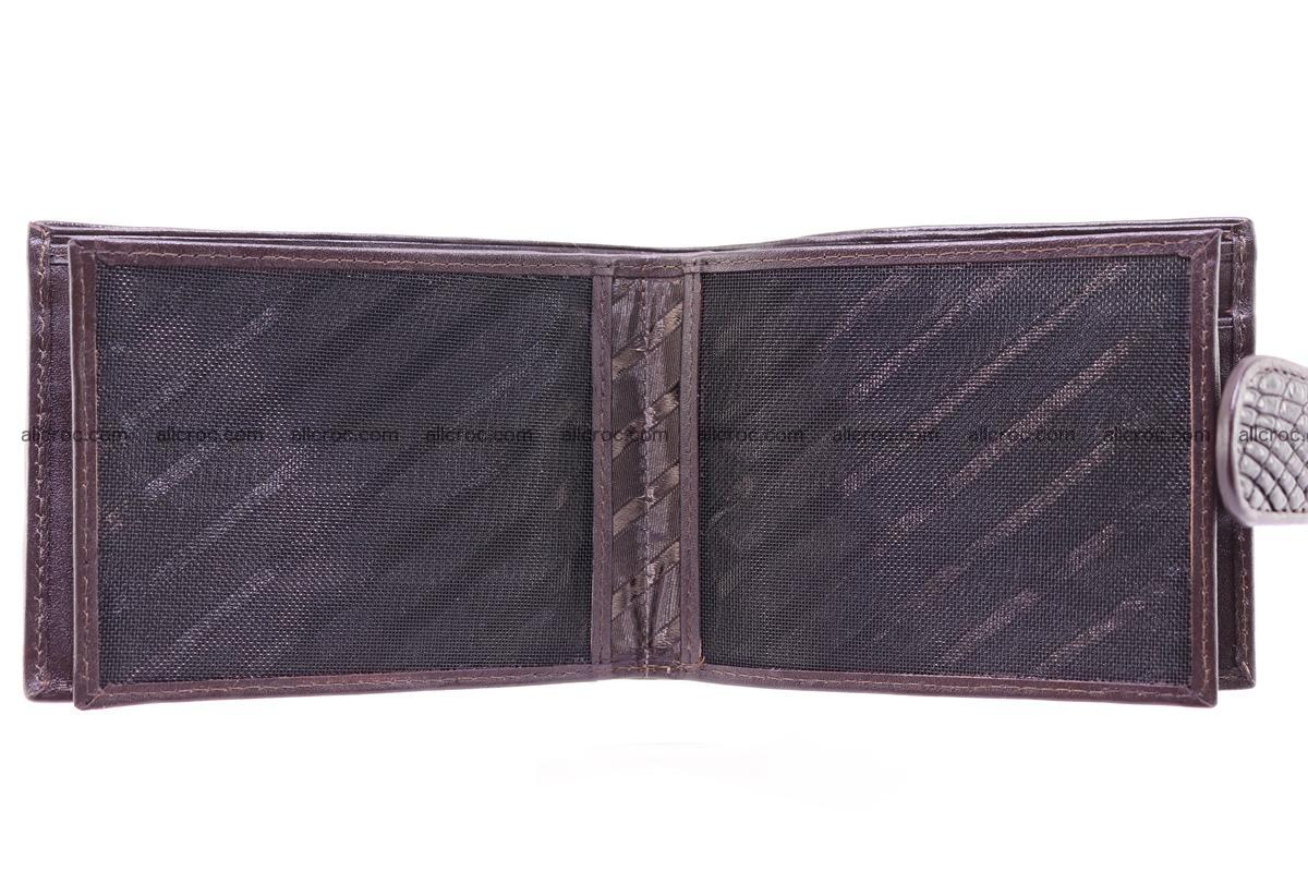 Siamese crocodile wallet with half belt and coins compartment 274 Foto 11