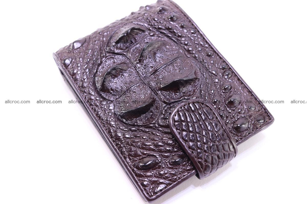 Siamese crocodile wallet with half belt and coins compartment 274 Foto 9
