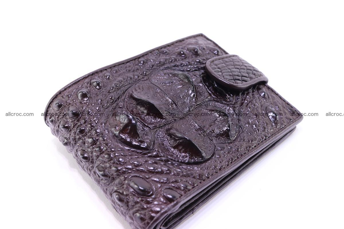 Siamese crocodile wallet with half belt and coins compartment 274 Foto 8