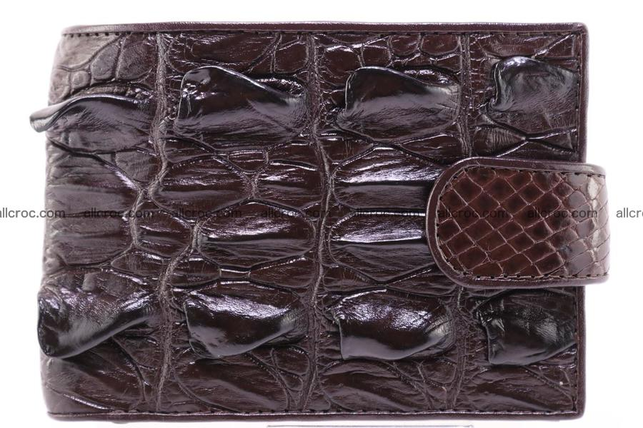 Siamese crocodile wallet with half belt and coins compartment 276