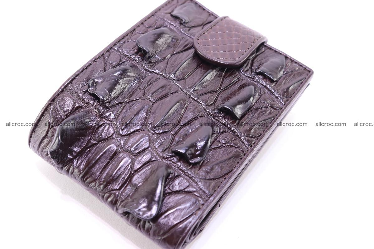 Siamese crocodile wallet with half belt and coins compartment 276 Foto 5