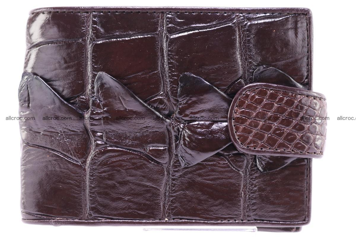 Siamese crocodile wallet with half belt and coins compartment 277 Foto 0