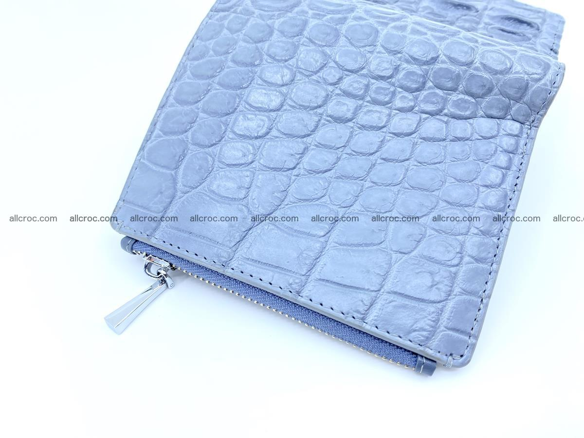Crocodile leather vertical wallet HK 640 Foto 3
