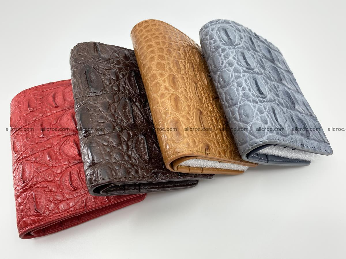 Crocodile leather vertical wallet HK 638 Foto 12