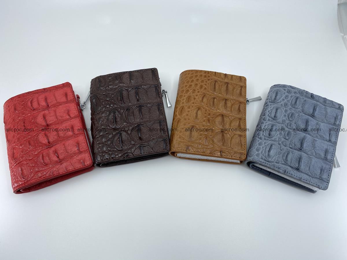 Crocodile leather vertical wallet HK 638 Foto 11