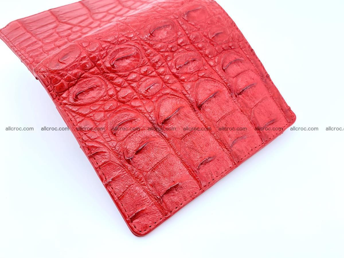 Crocodile leather vertical wallet HK 638 Foto 3