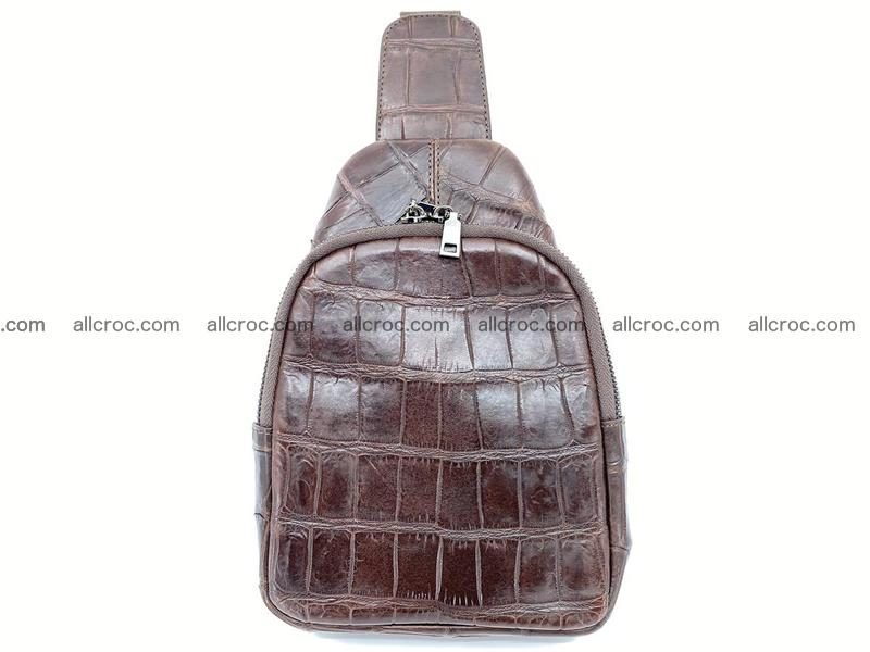 Sling bag from crocodile skin 887