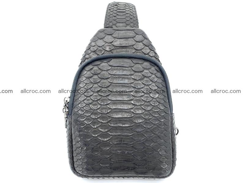Sling bag from python snake skin 889