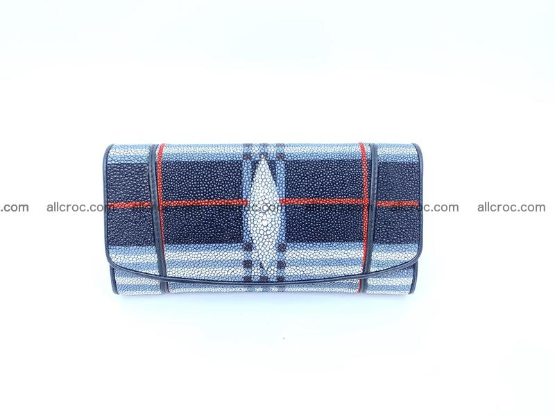 Stingray leather long wallet 1136