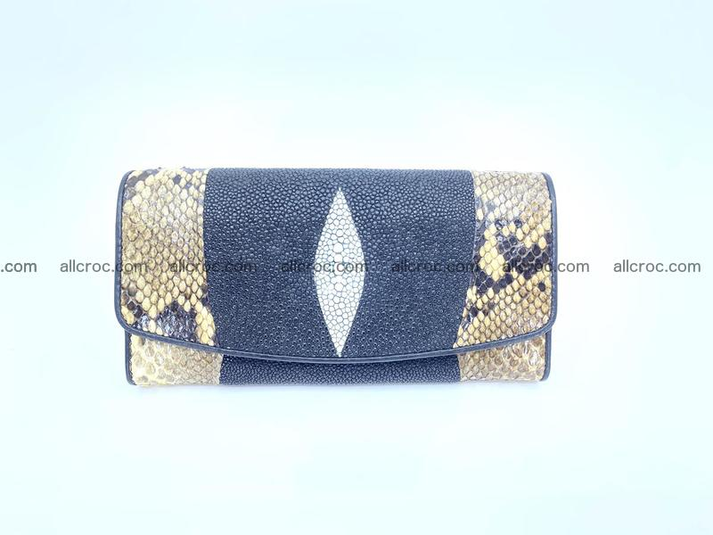 Stingray leather long wallet 1145