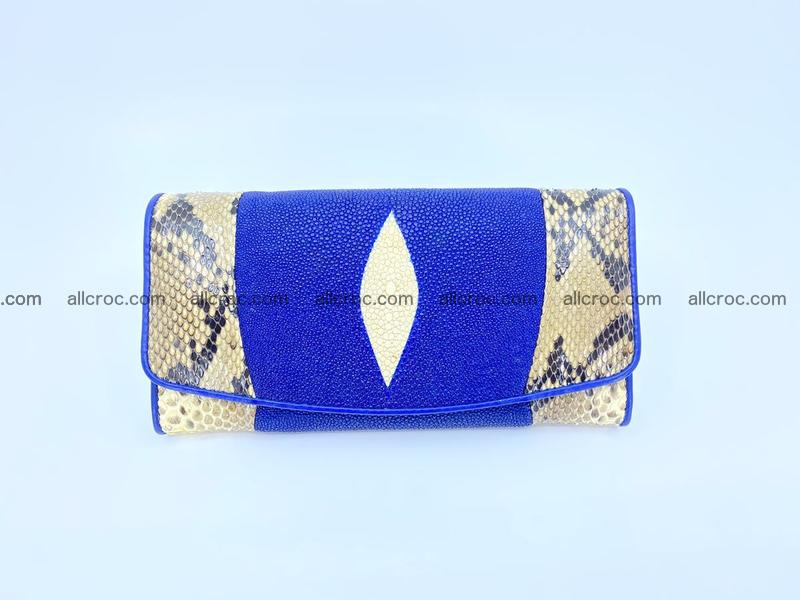 Stingray leather long wallet 1146