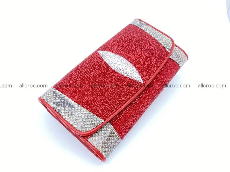 Stingray leather long wallet 1099