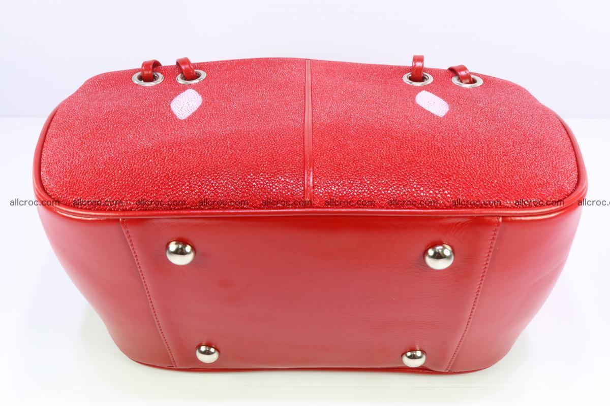 Stingray leather women's handbag 387 Foto 7