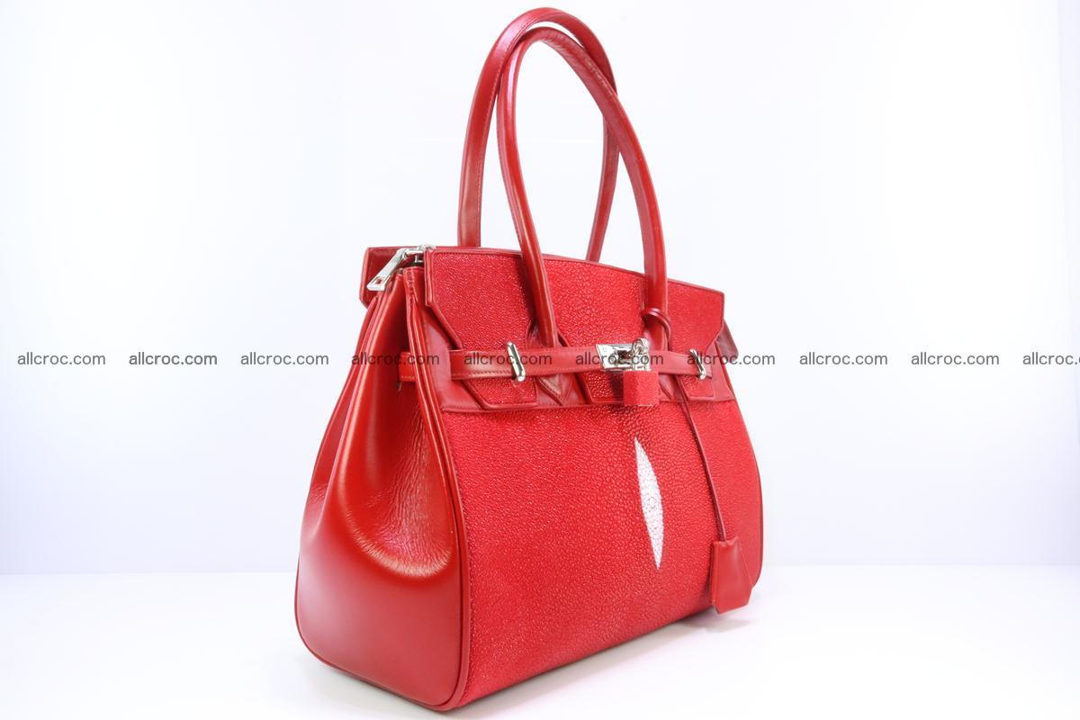 Stingray skin handbag replica of Hermes Birkin 384 Foto 7