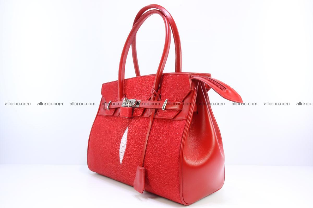 Stingray skin handbag replica of Hermes Birkin 384 Foto 4
