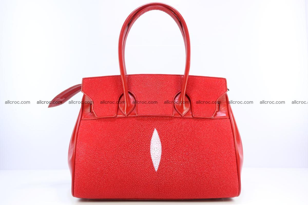 Stingray skin handbag replica of Hermes Birkin 384 Foto 1