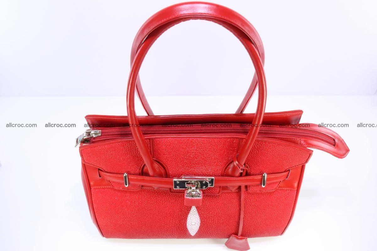 Stingray skin handbag replica of Hermes Birkin 384 Foto 8