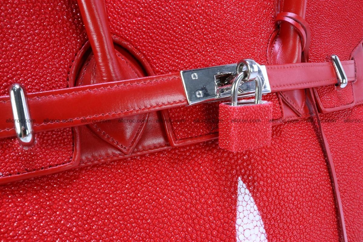 Stingray skin handbag replica of Hermes Birkin 384 Foto 2